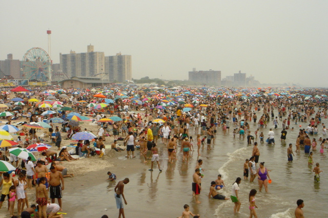 File:Coney Island beach July4.jpg