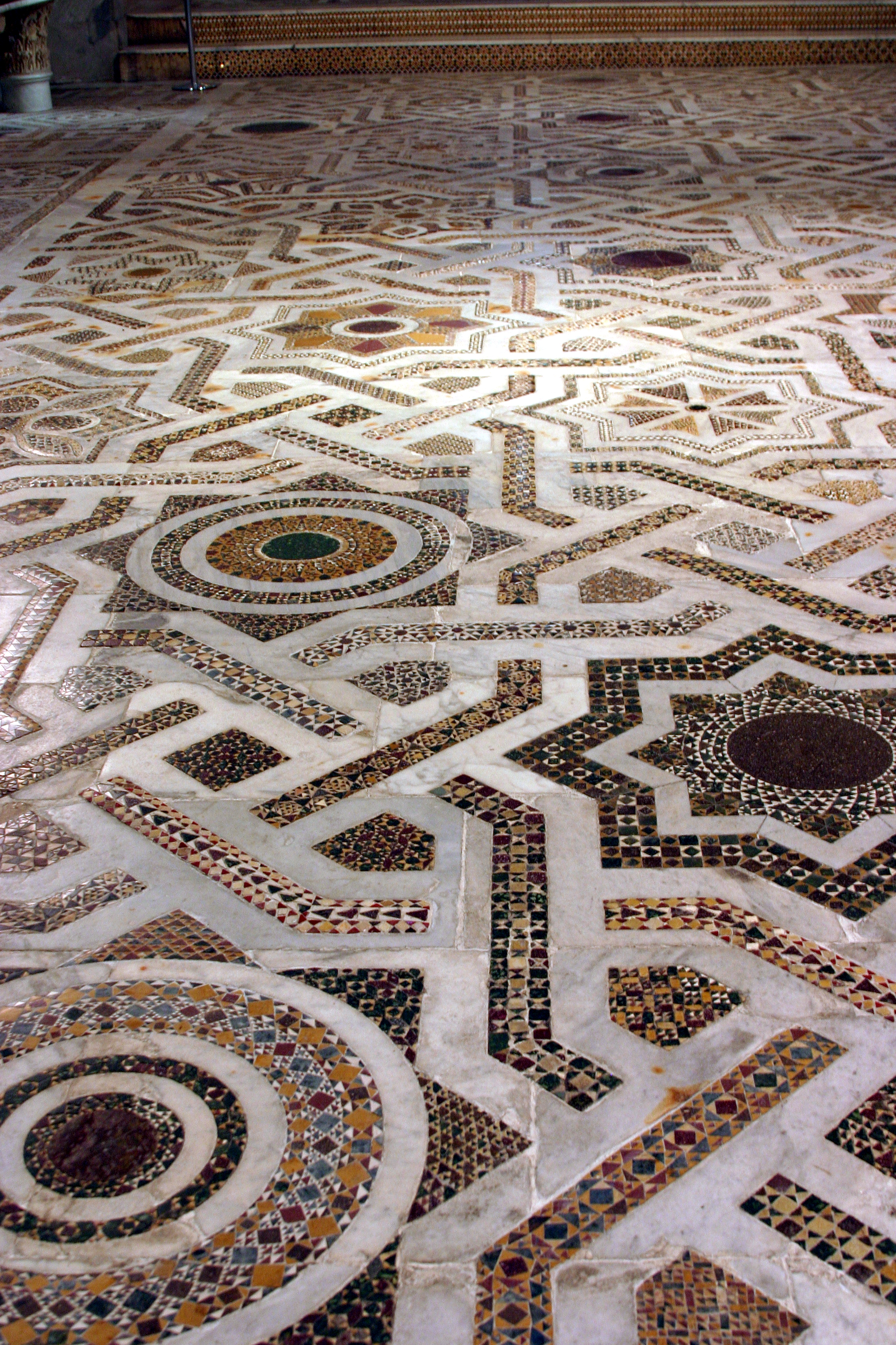 File Cosmatesque Floor Louis Chapel Cathedral Of