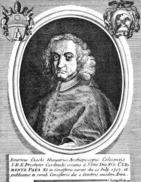 Csáky Imre portréja. Korabeli rézmetszet