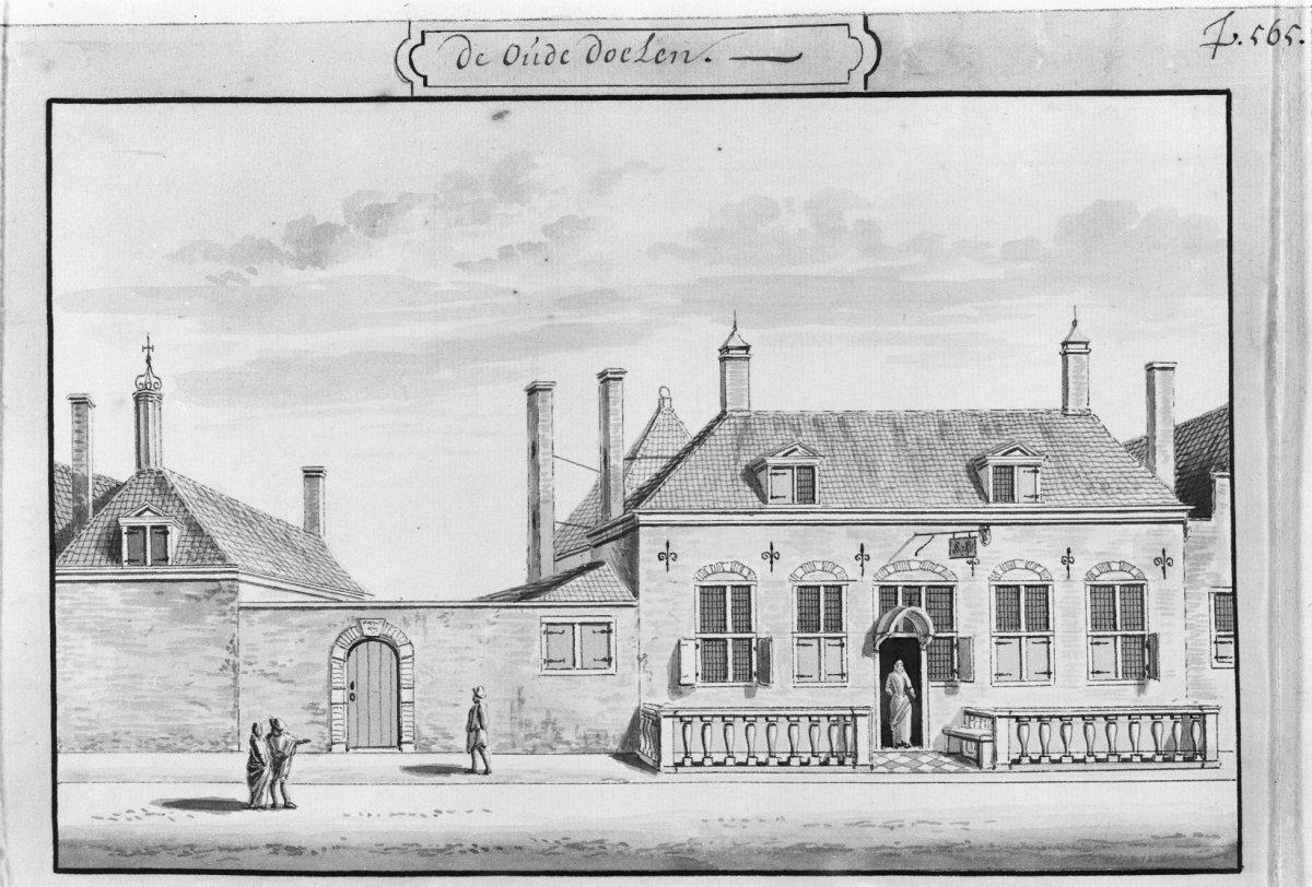 De oude Doelen, door A.Rademaker tekening in bezit van Gemeente Archief. - Delft - 20049246 - RCE.jpg