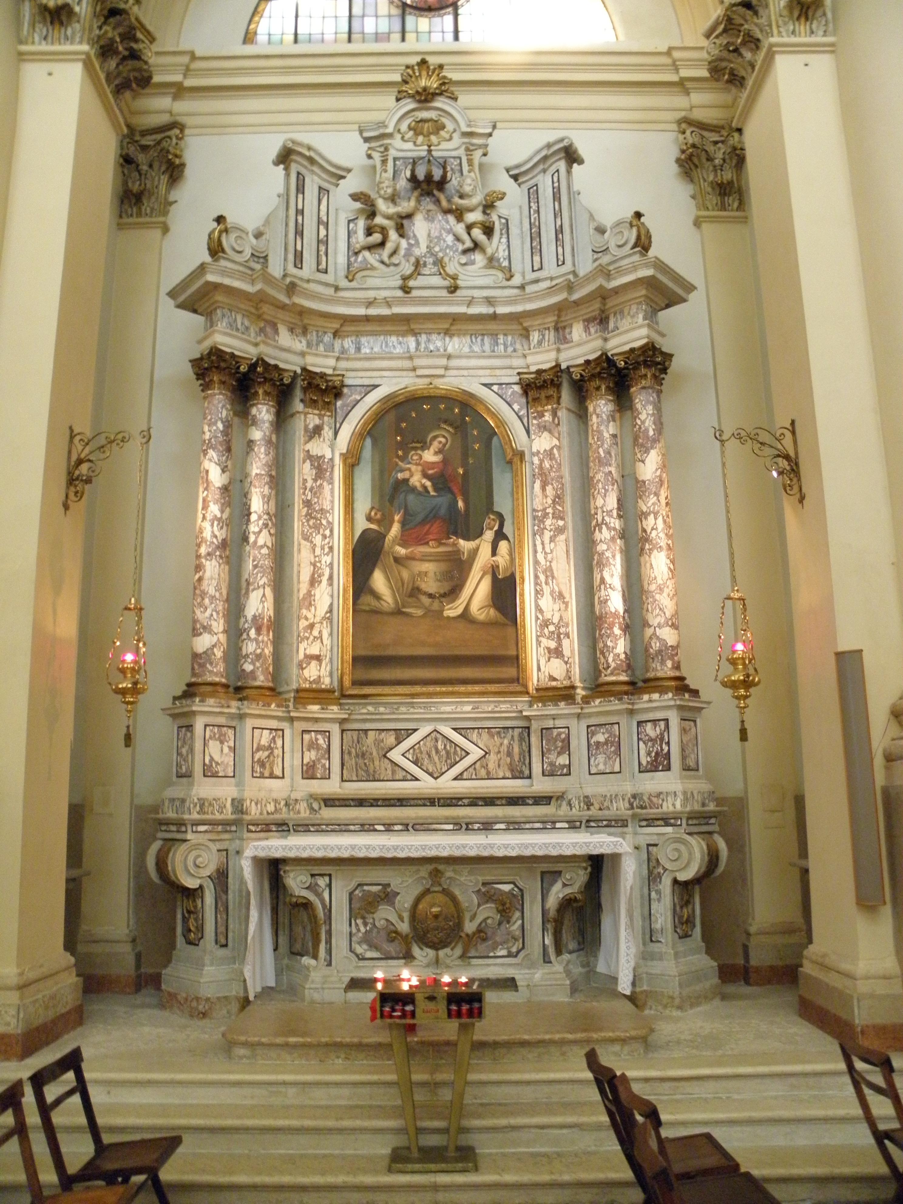 File Duomo Di San Martino Vescovo Interno Altare Madonna Rosario Legnago Jpg Wikimedia Commons