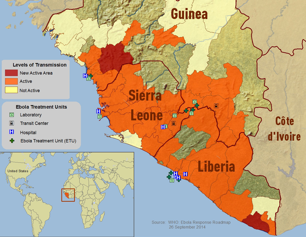 ebola outbreak 2014 The outbreak of the ebola virus in 2014 primarily affected 3 countries in west  africa: guinea, liberia and sierra leone in total, more than 28,600 cases and.