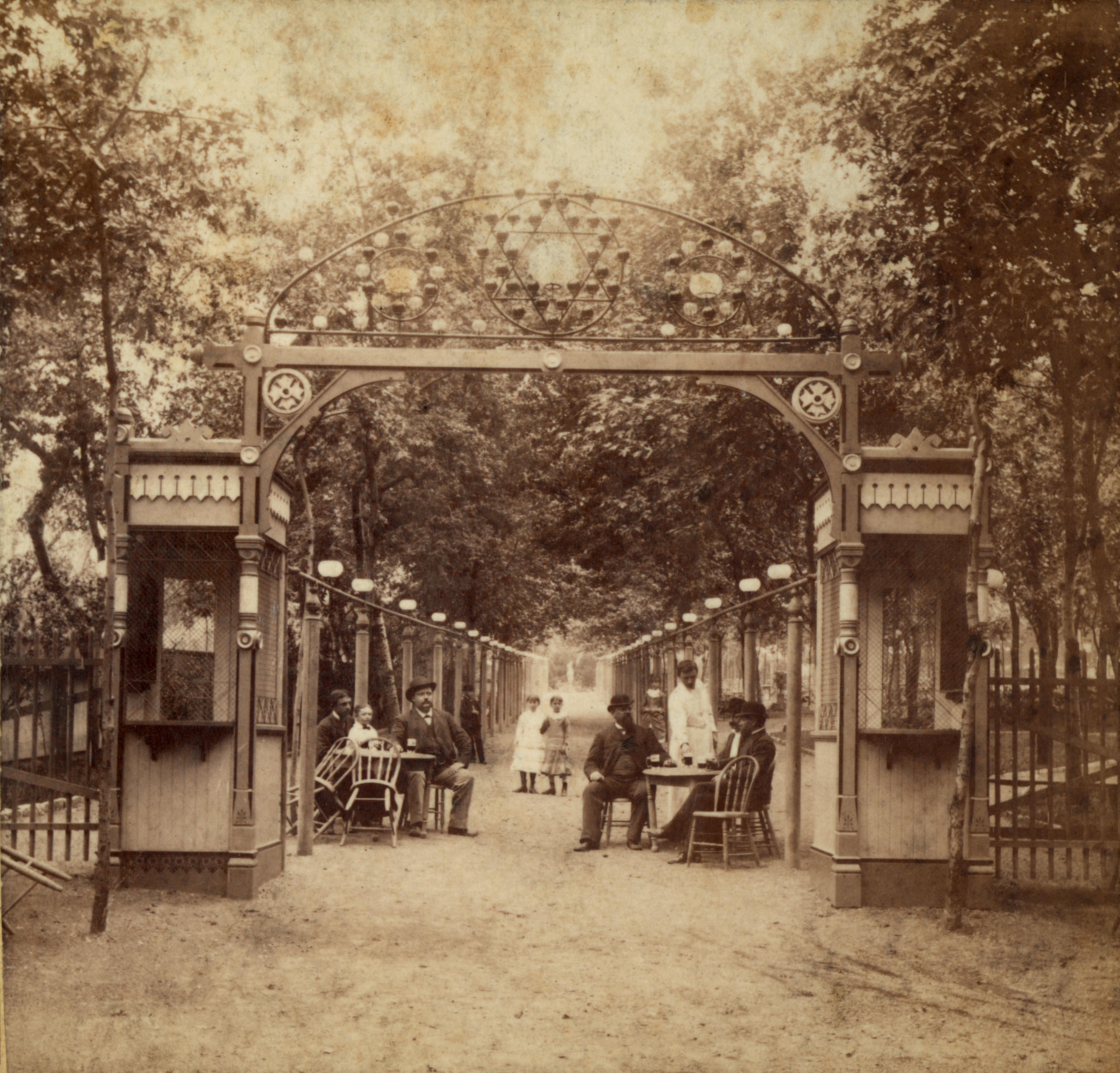 File:Entrance gate for Schnaider's Beer Garden  2000 Chouteau Avenue