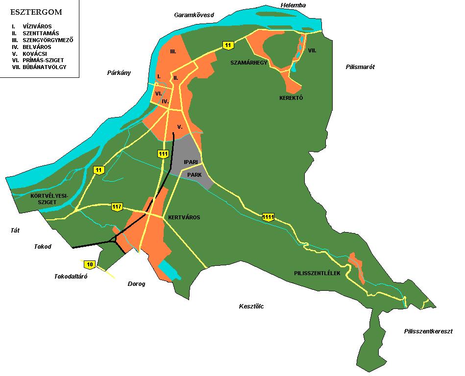 esztergom térkép letöltés Esztergom városrészei – Wikipédia esztergom térkép letöltés
