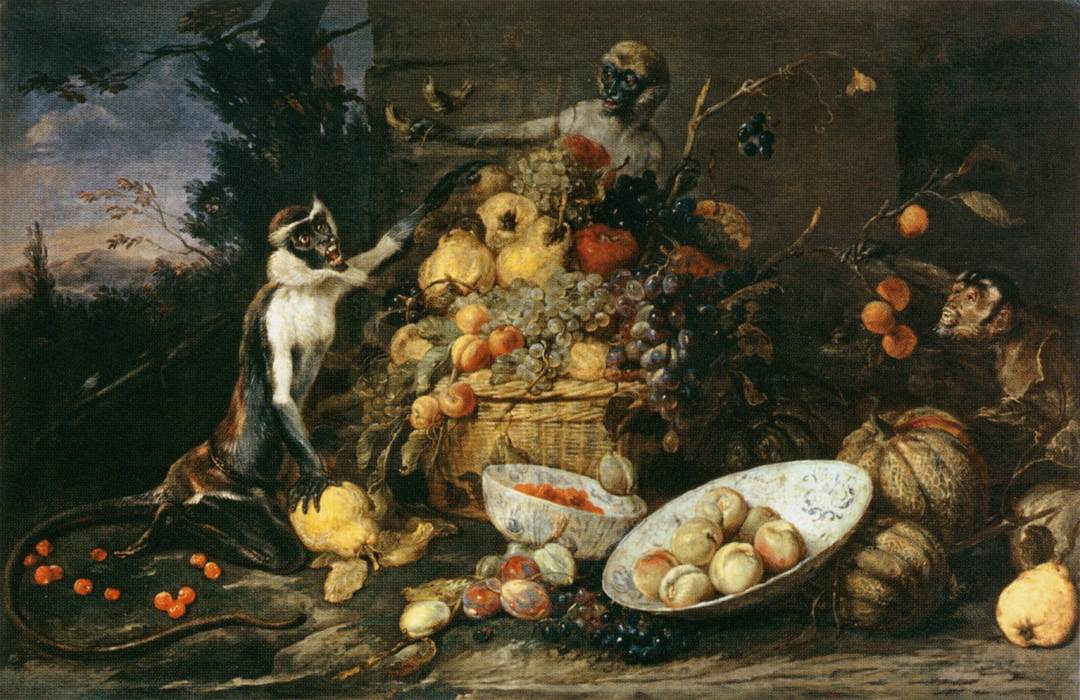 File:Frans Snyders - Three Monkeys Stealing Fruit - WGA21531.jpg ...