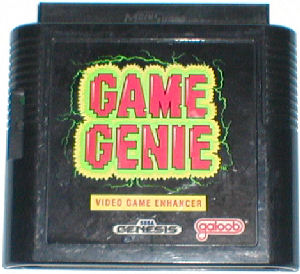 A picture of the Game Genie for the Sega Genesis