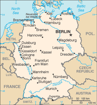 FileGermanyCIA WFB Mappng Wikimedia Commons - Germany map location