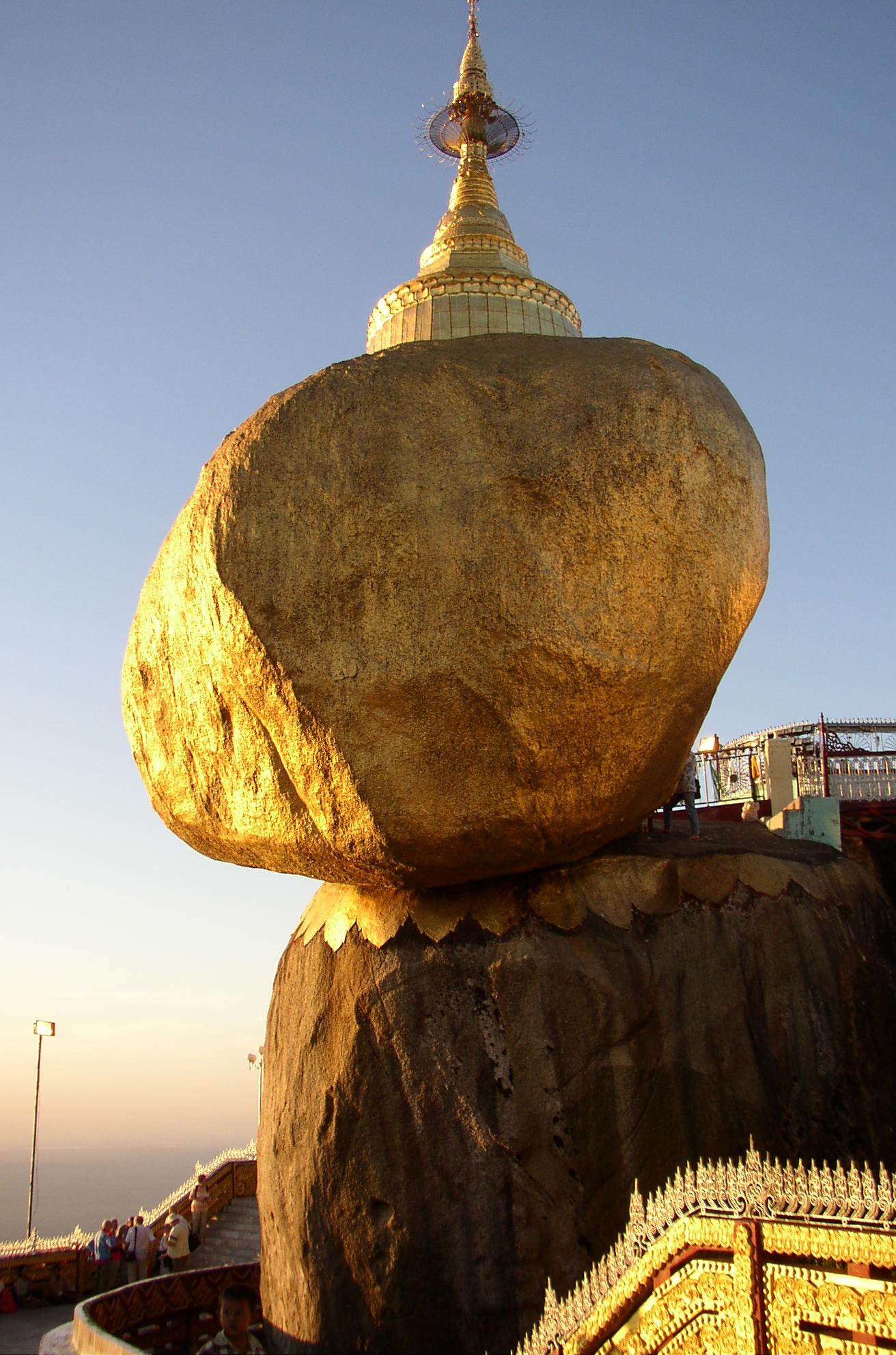 http://en.wikipedia.org/wiki/Kyaiktiyo_Pagoda