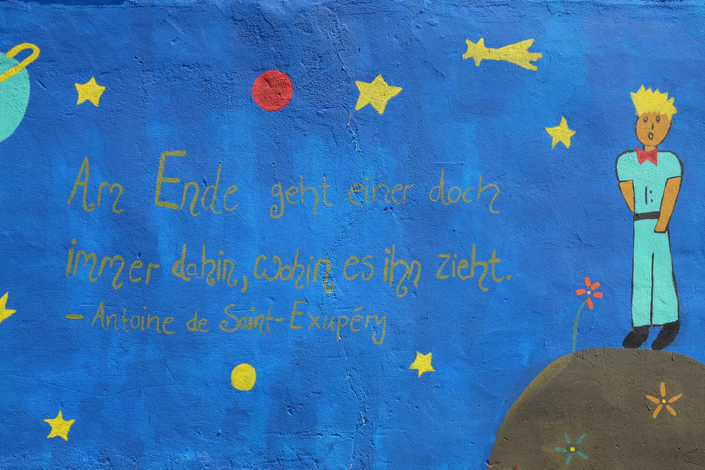 Extrem File:Grafitti mit einem Zitat aus dem Roman der kleine Prinz.jpg  FM01