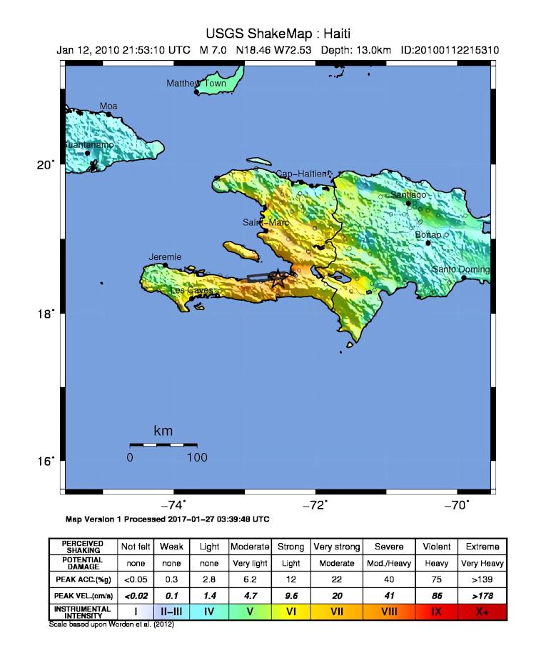 Haiti Earthquake HowlingPixel - Map of haiti in relation to us