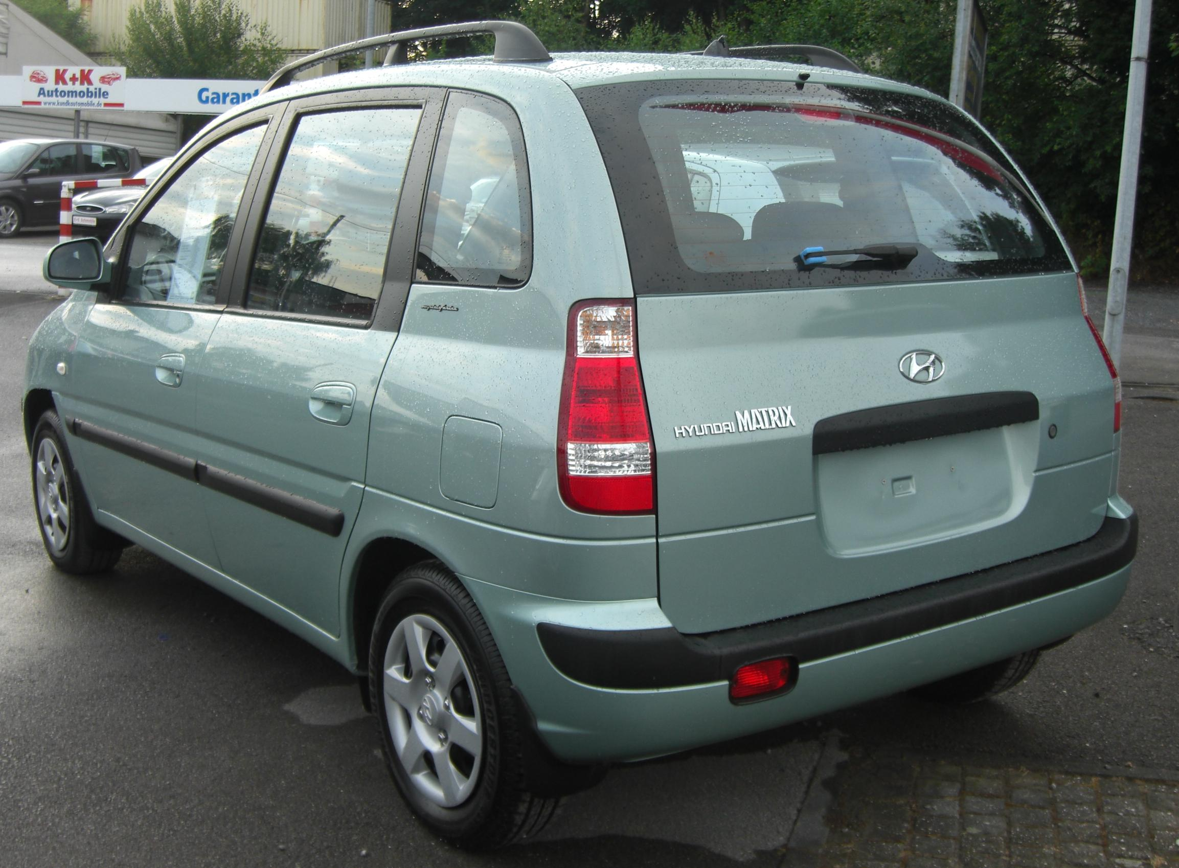 File Hyundai Matrix Facelift 2005 2007 Rear Jpg
