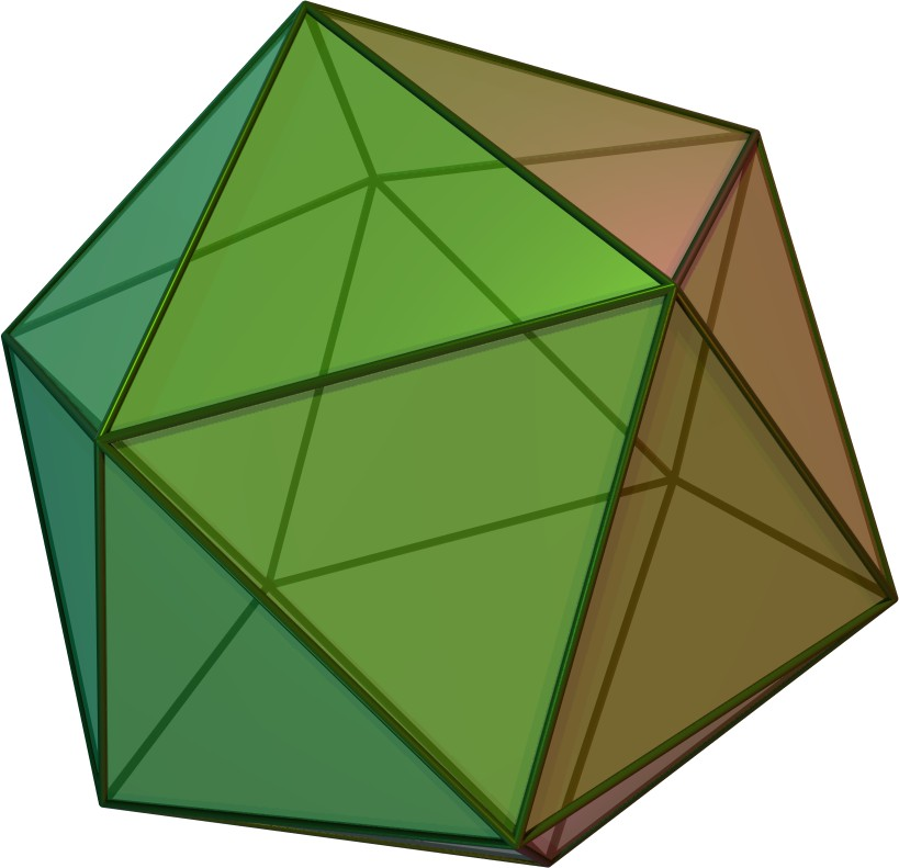 Folding diagrams of truncated spiked icosahedron | Geometric ... | 791x819