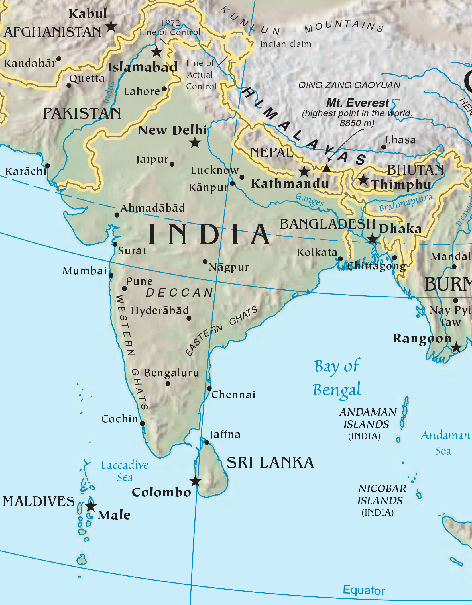FileIndian Subcontinent CIApng Wikimedia Commons - Maldives map india