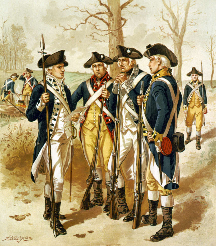 Soldiers in the Continental Army