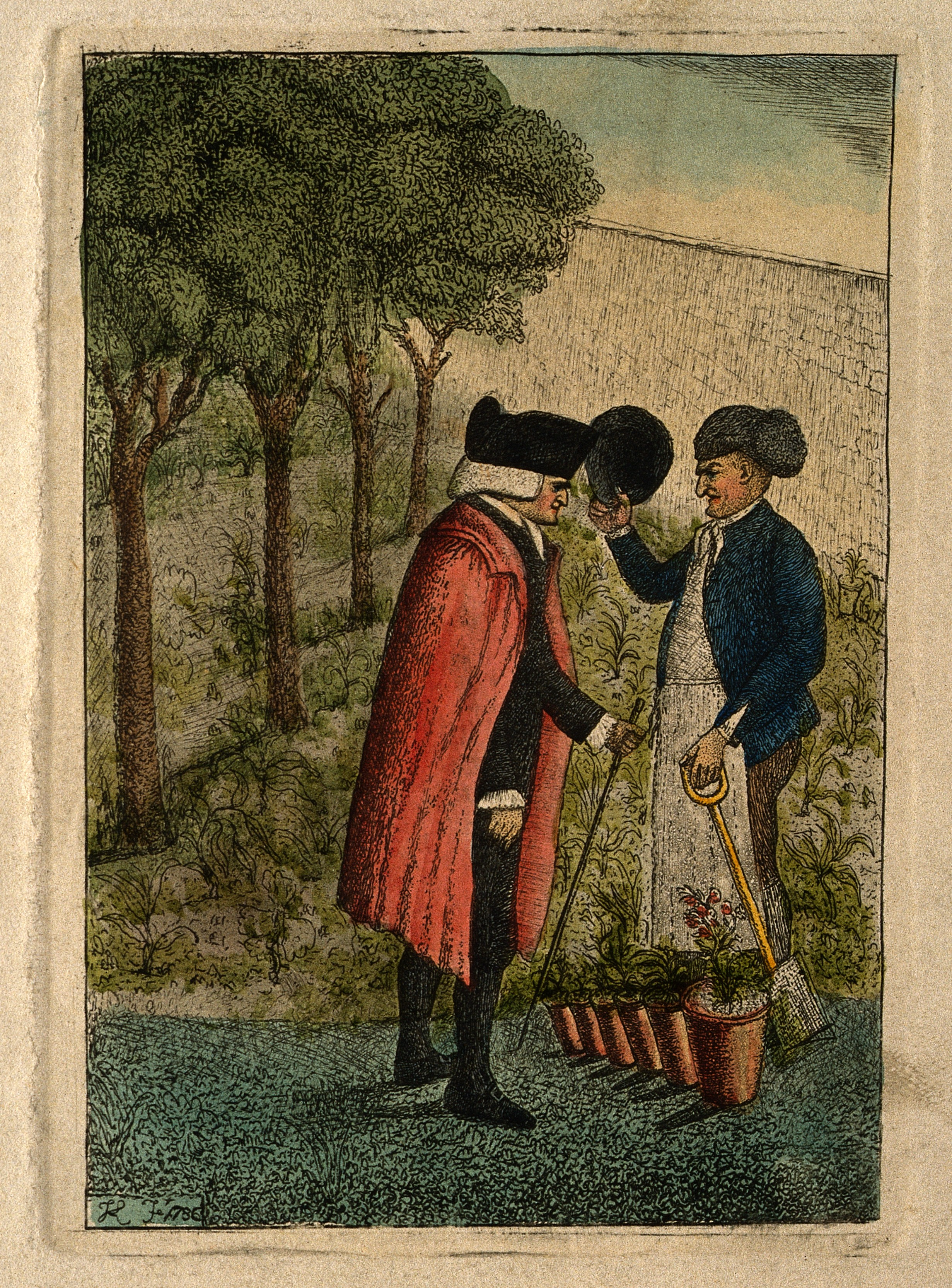 Coloured etching by J. Kay, 1786. Wellcome V0002873
