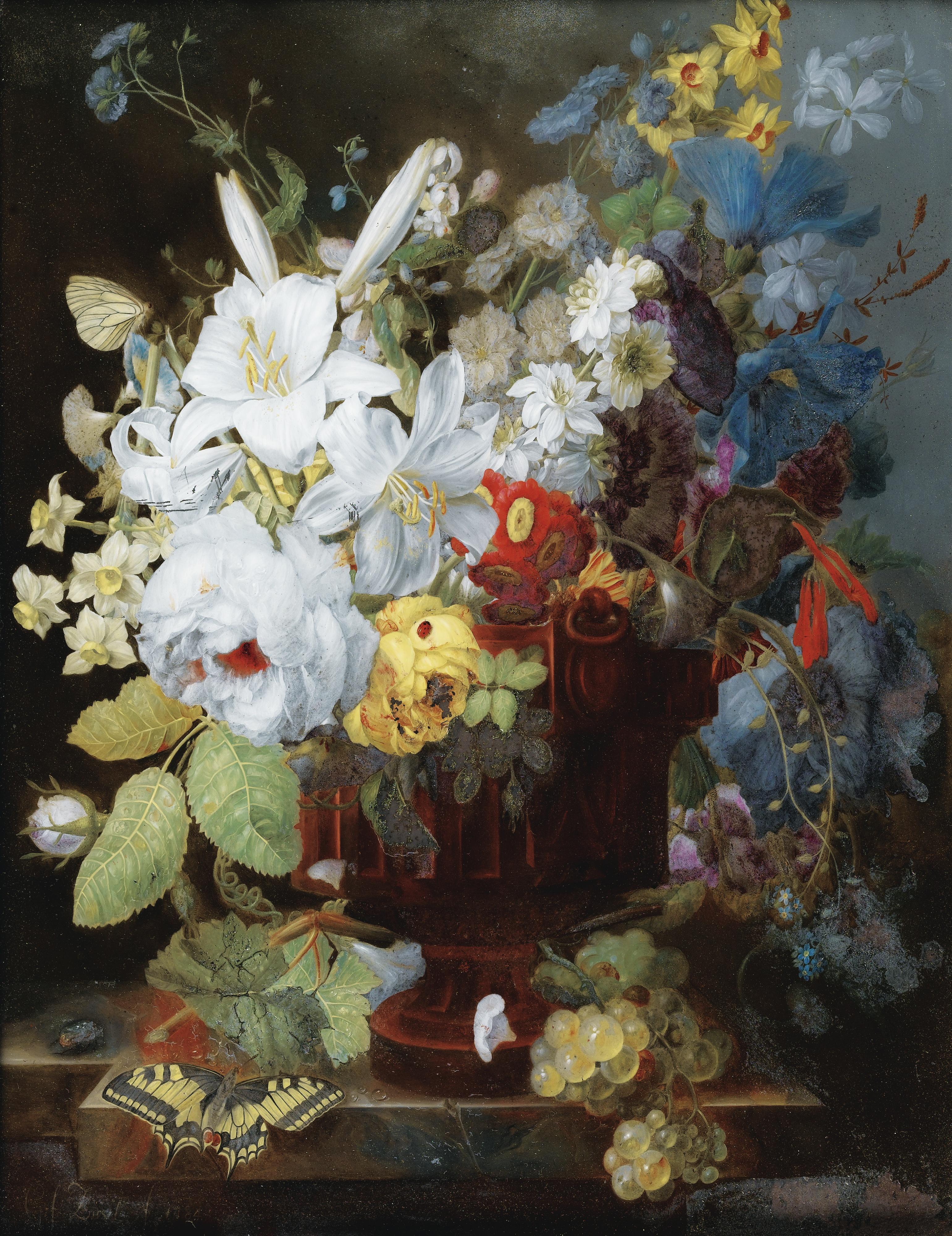 File joris frederik ziesel stilleven met boeket bloemen for Bouquet de fleurs wiki