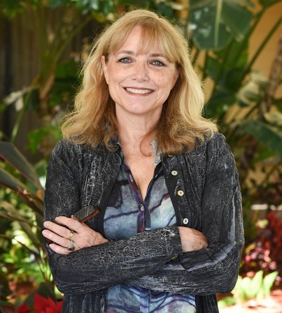 Karen Allen at the opening of A Year by the Sea, Coconut Creek, Florida in February 2017.