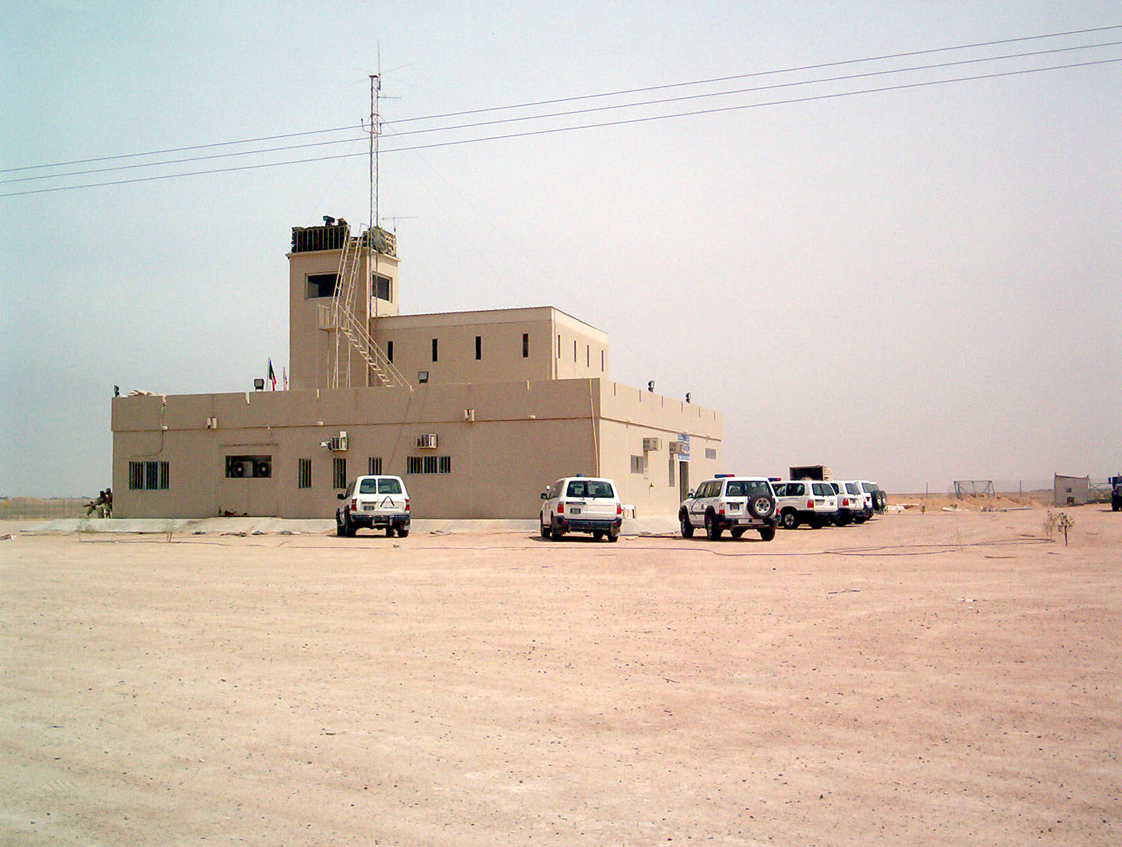 English: A Kuwaiti Police Station located near...