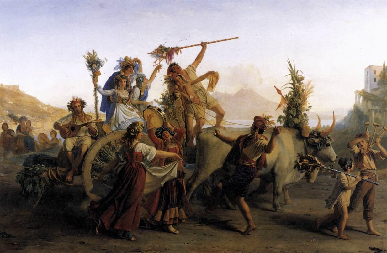 Le Retour de la fête de la madone de l'arc, près de Naples