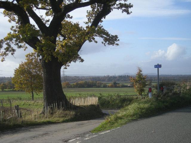 Lane junction on NCR 81 - geograph.org.uk - 1036632