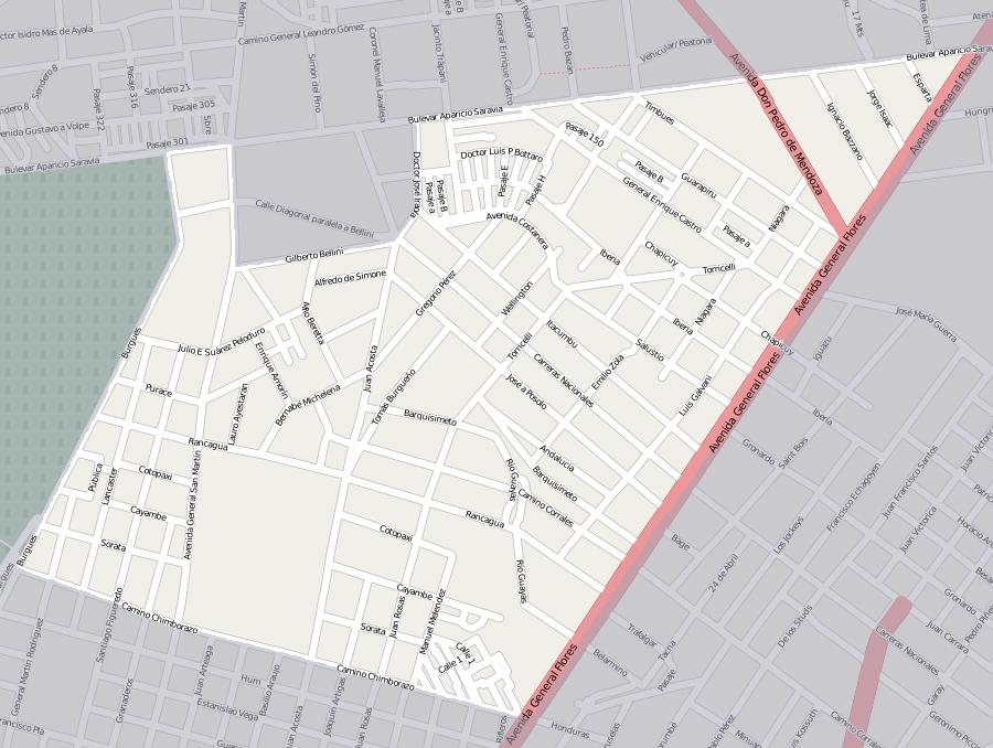 City Street Map Verado