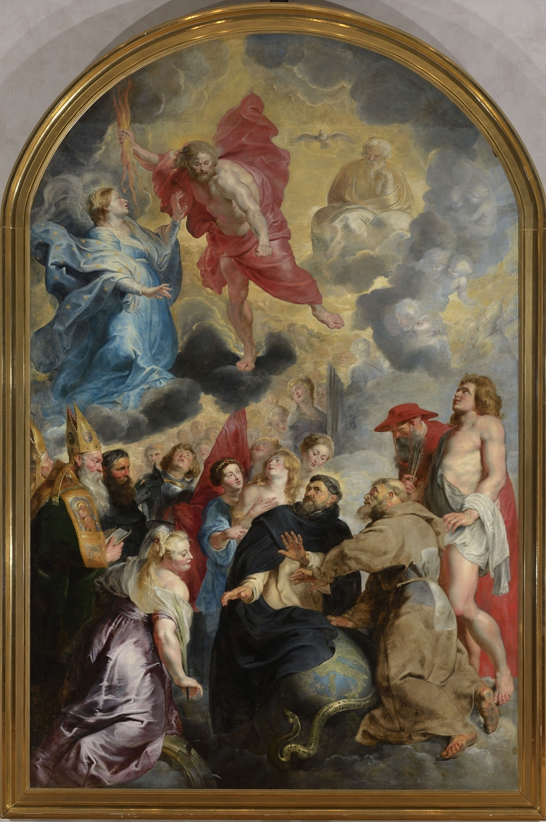The saints preserving the world from the wrath of christ for Art du monde