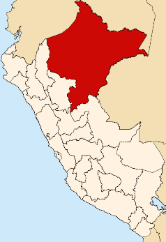 Location of the Loreto region in Peru