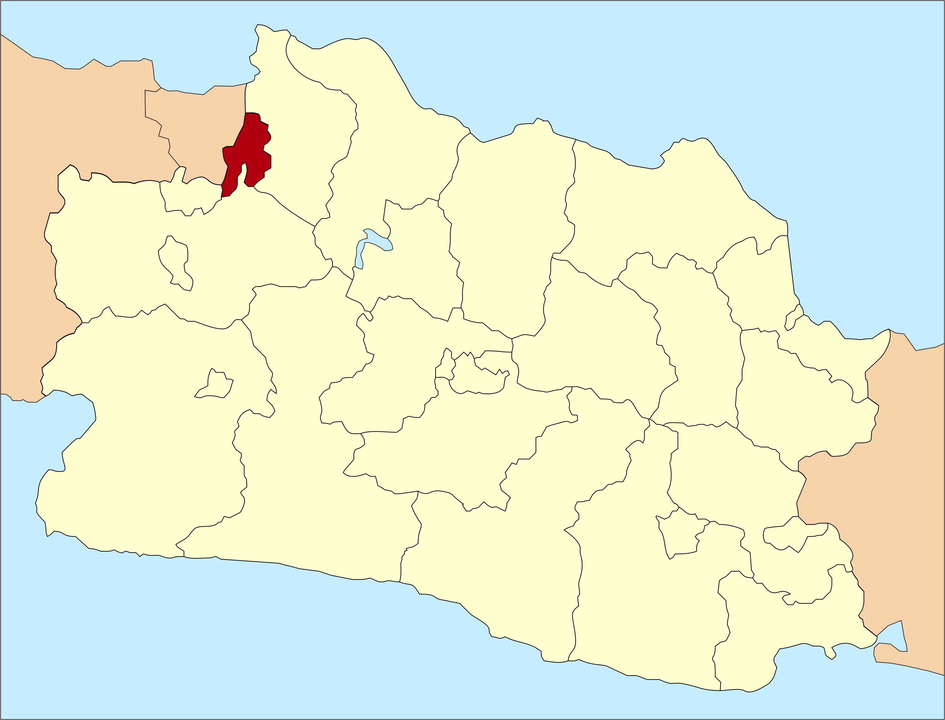 Peta lokasi Kota Bekasi