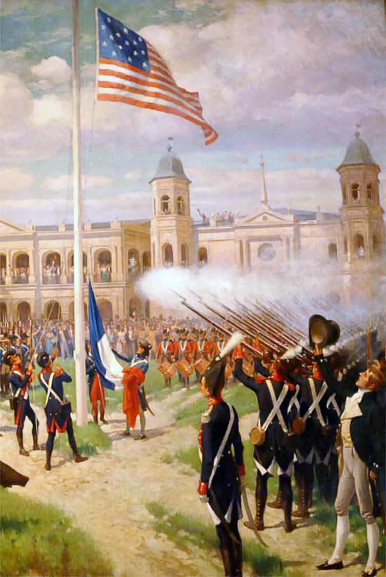 Thure de Thulstrup: Hoisting of American Colors over Louisiana
