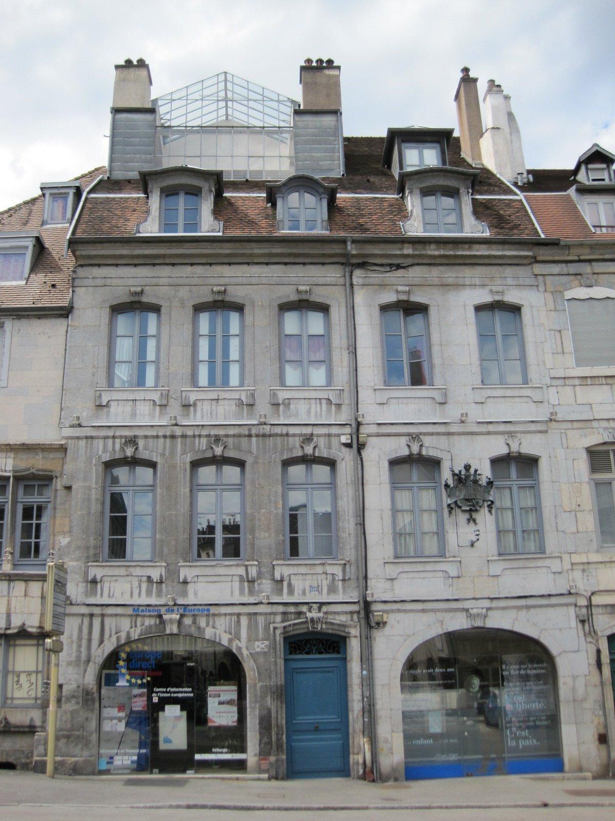 Casa natal de Victor Hugo en la ciudad de Besanzón.