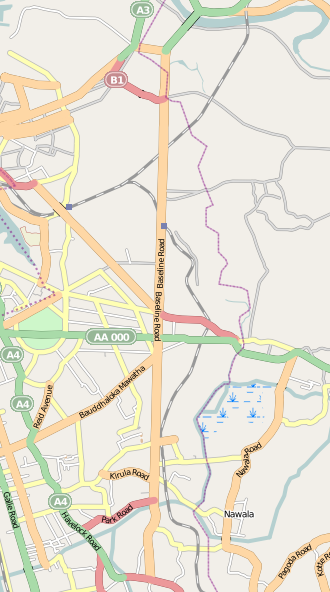 Map of Baseline Road (Sri Lanka)