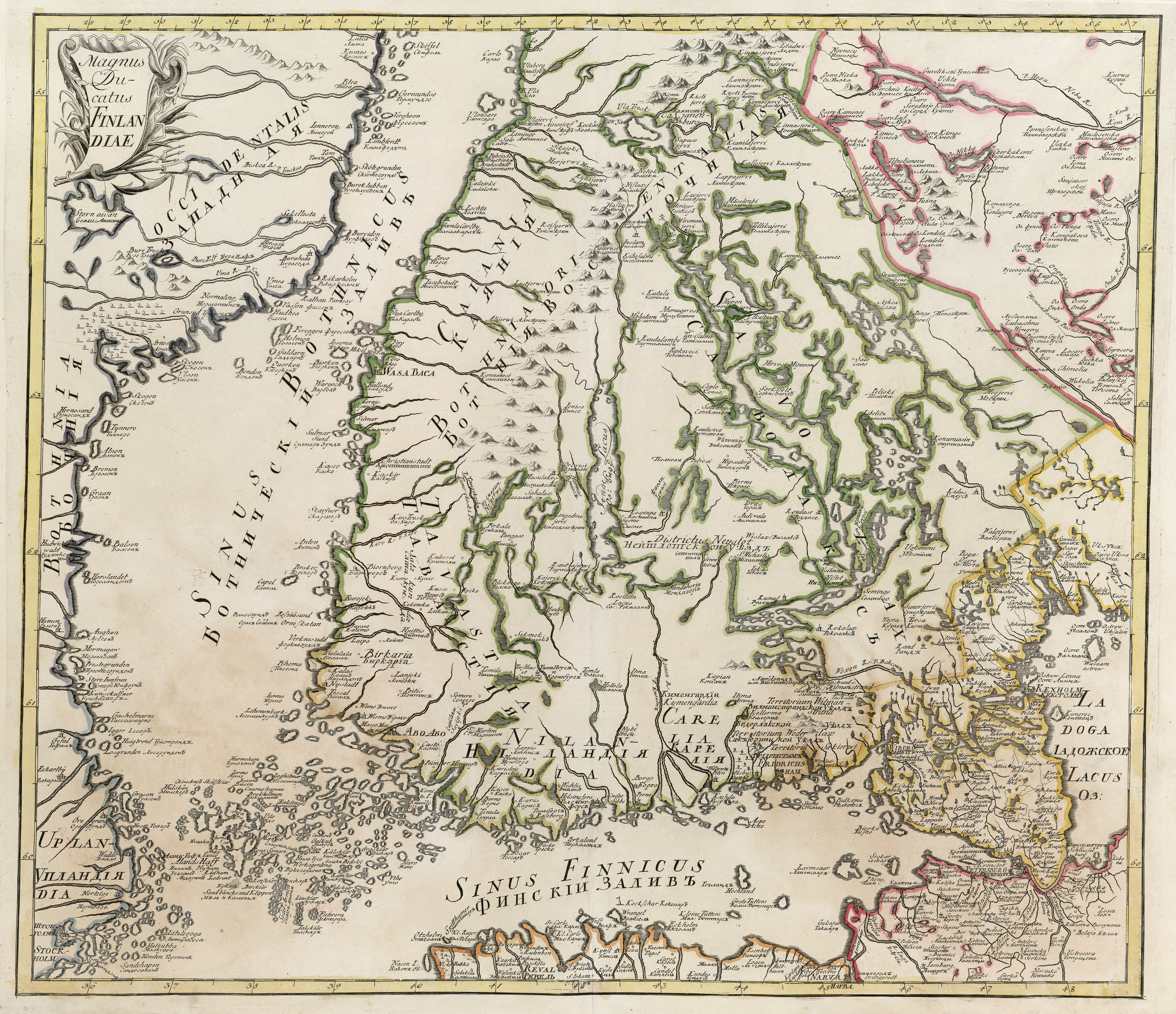 File Map Of Finland First Half Of Xviii Century Jpg