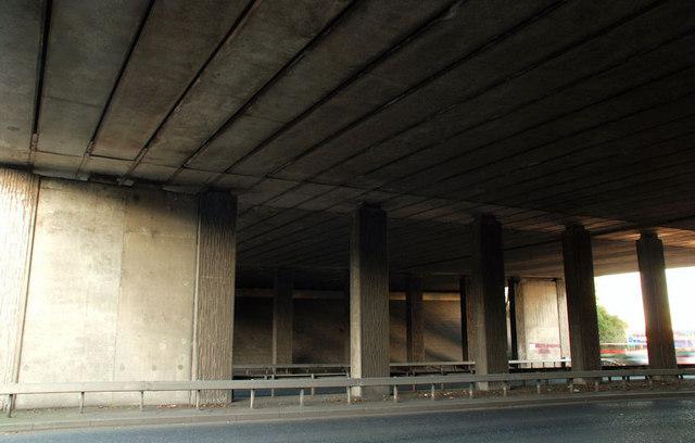 File:Motorway flyover, Belfast - geograph.org.uk - 1600979.jpg