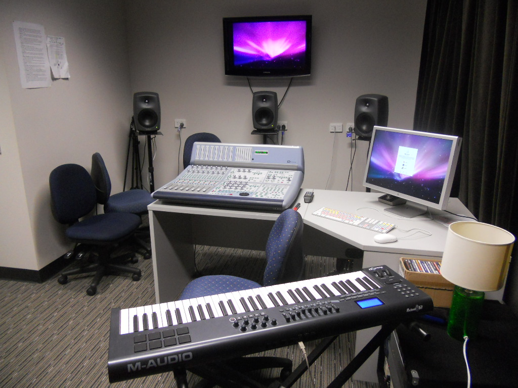 Here's a music studio