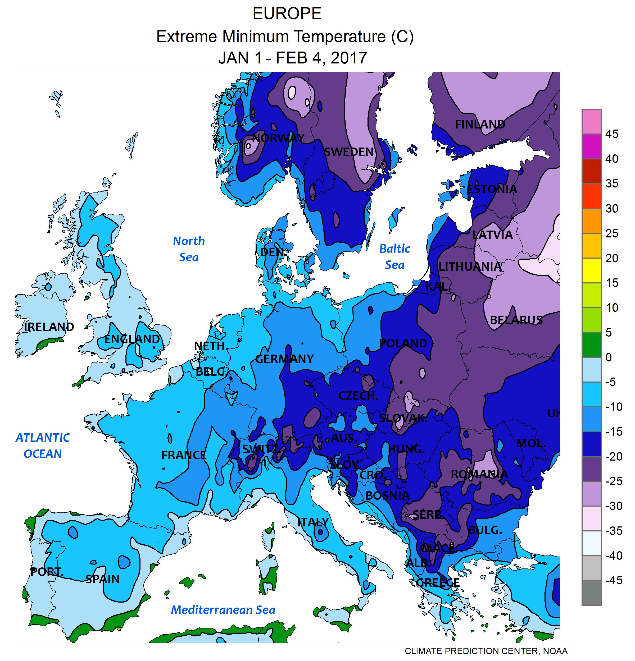 Wetter Europa Karte