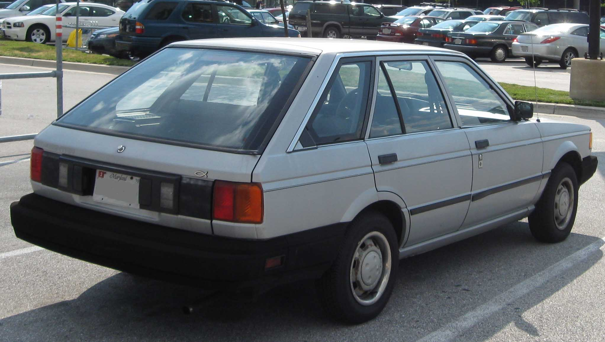 File Nissan Sentra Wagon Rear Jpg Wikimedia Commons