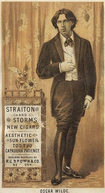 English: Trade card of a cigar dealer after a ...