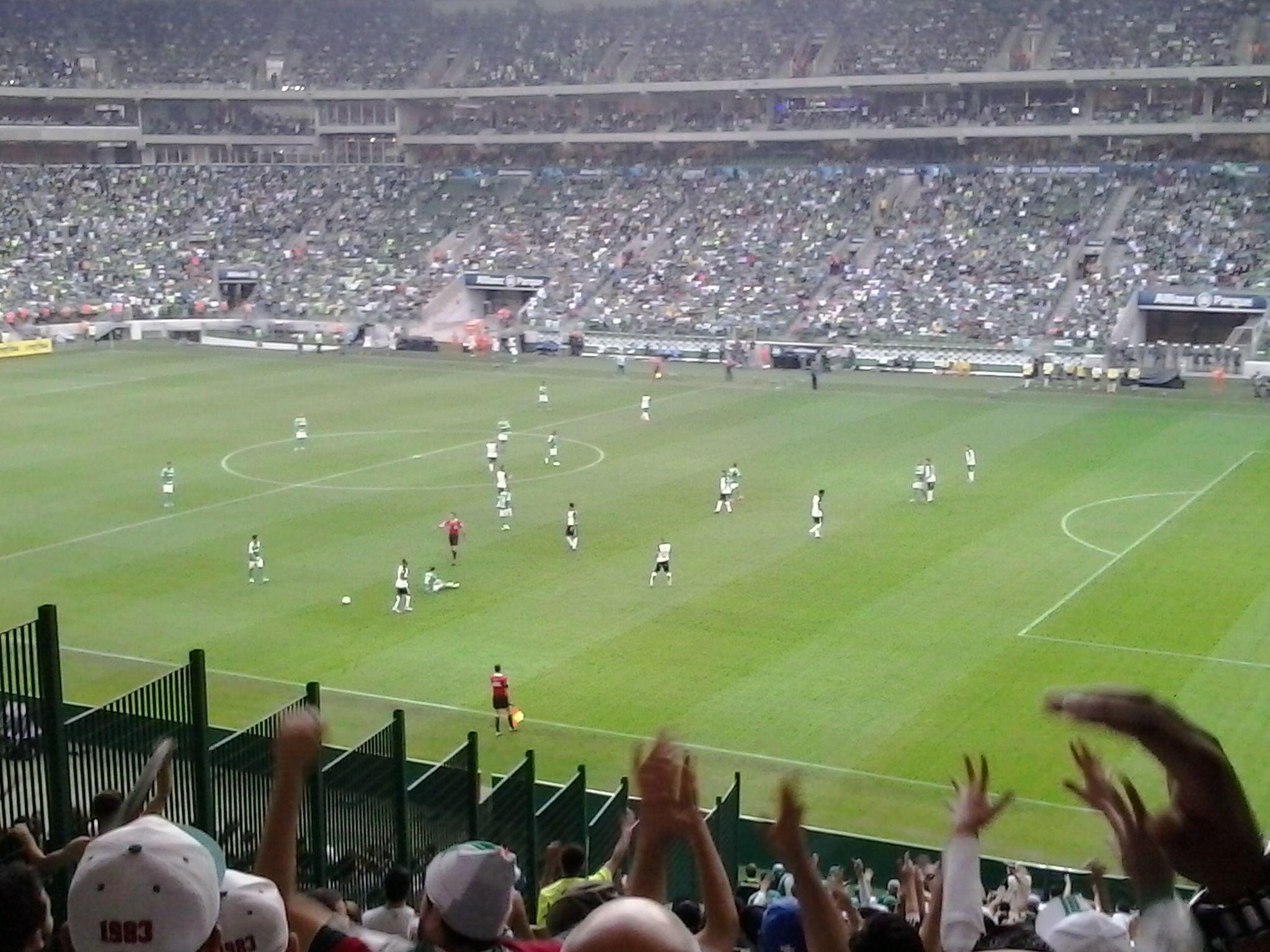 Derby Paulista disputado no Allianz Parque no Brasileirão de 2015 6d27deaf48c1e