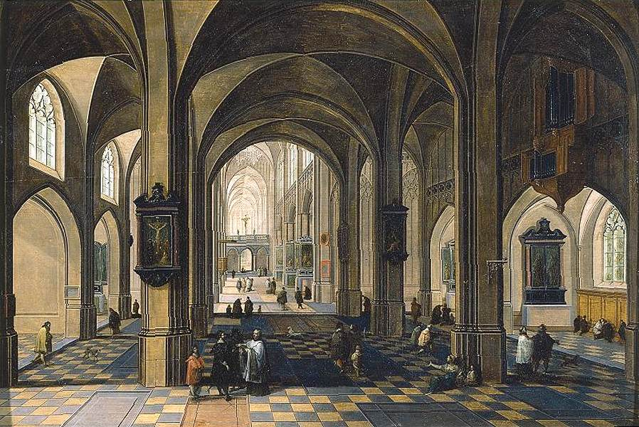 Peeter Neeffs (I) - Interior of a Gothic Cathedral - WGA16479.jpg