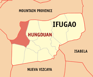 Map of Ifugao showing the location of Hungduan