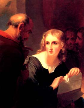 Shylock and Portia (1835), by Thomas Sully