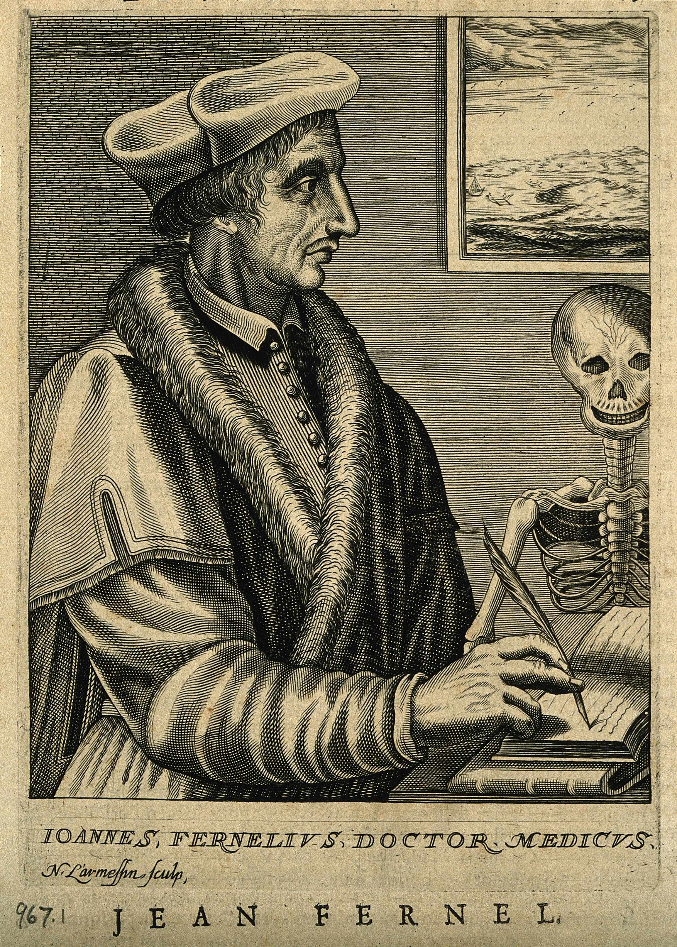 File:Portrait of Jean François Fernel (1497? – 1558) Wellcome V0001901.