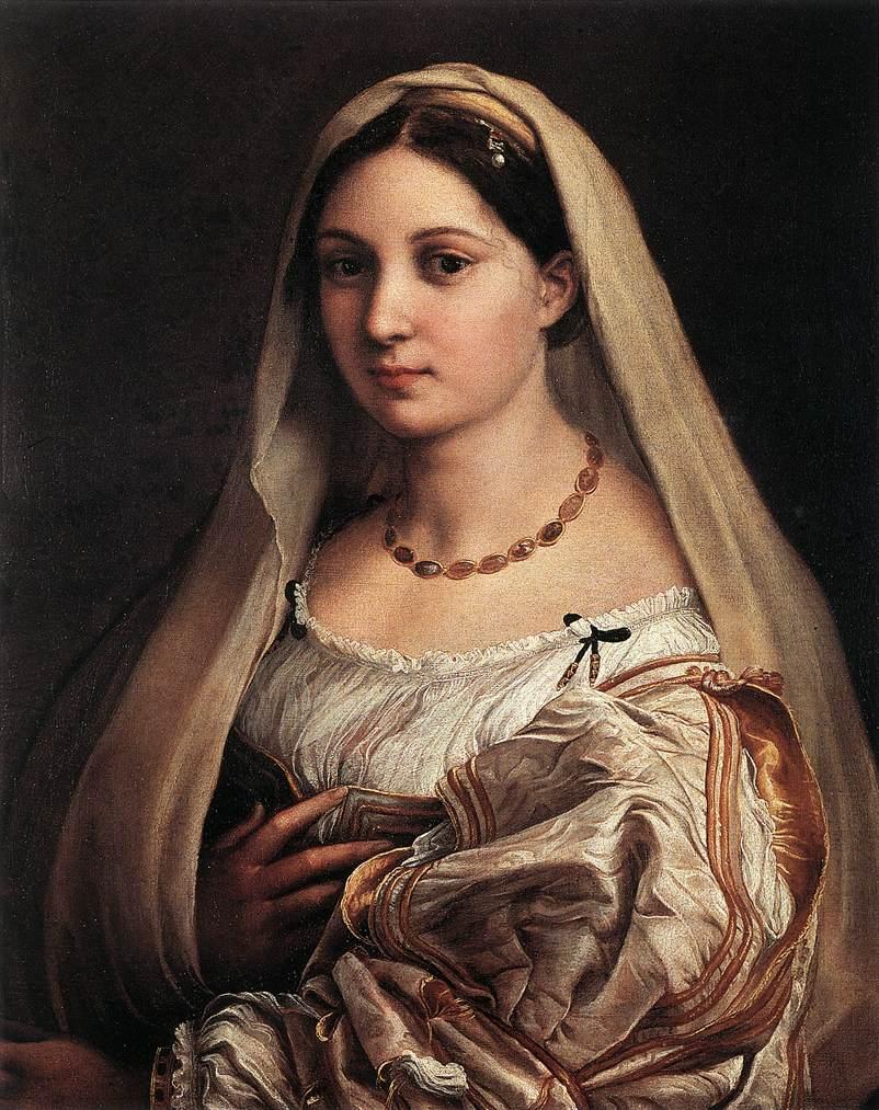 https://upload.wikimedia.org/wikipedia/commons/e/eb/Raffaello_Sanzio_-_Woman_with_a_Veil_%28La_Donna_Velata%29_-_WGA18824.jpg