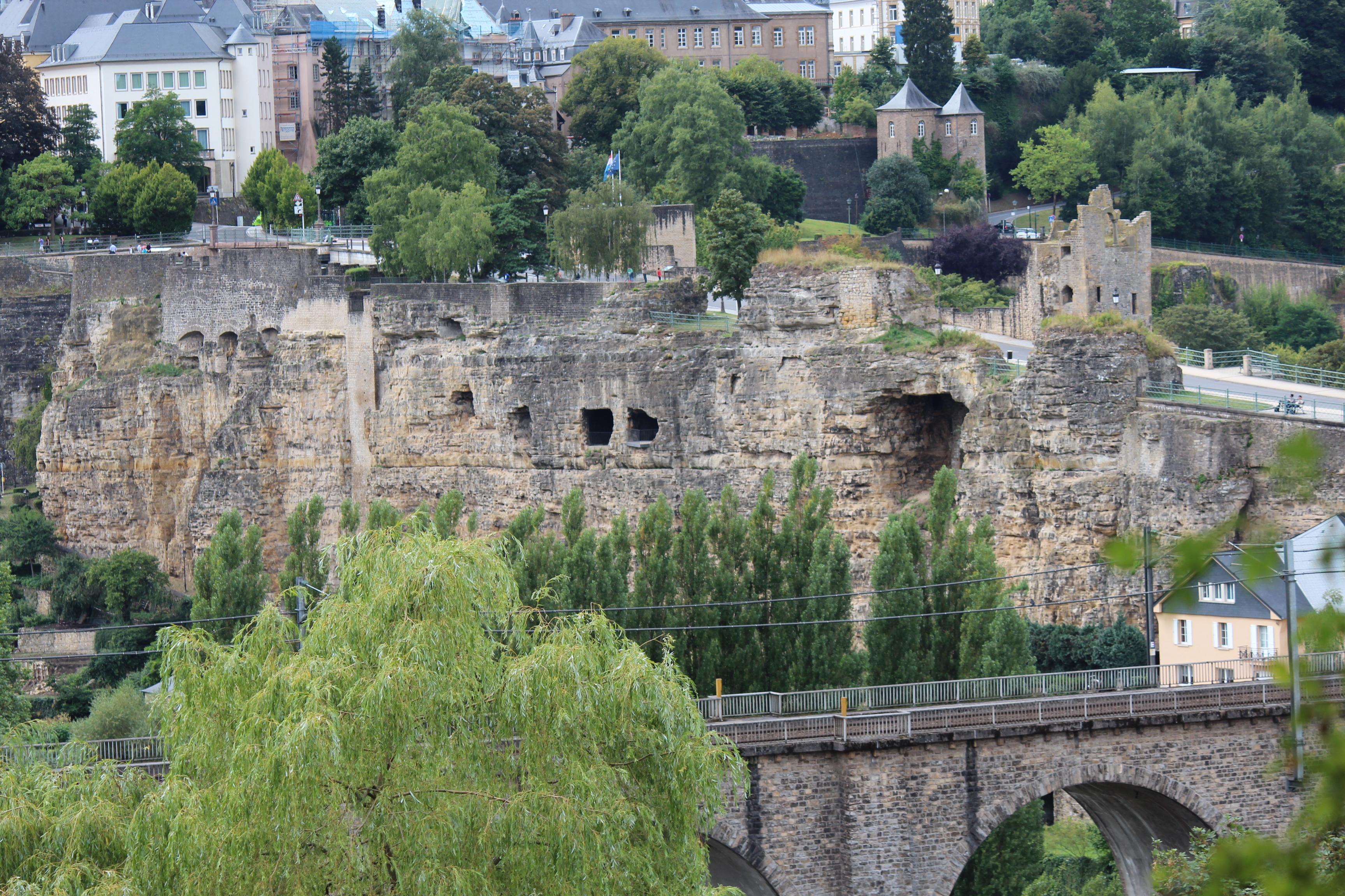 File Rocher Du Bock Luxembourg City Seen From Rue De Treves 2013