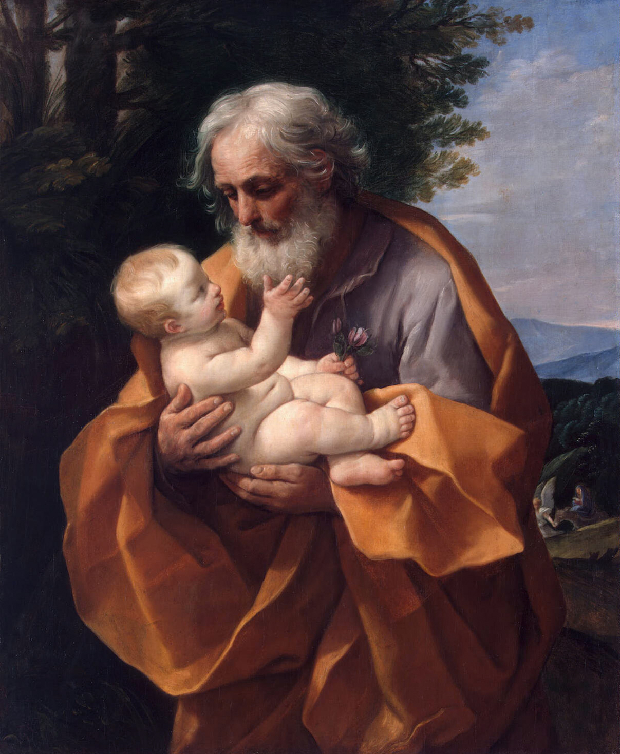 La nascita di Gesù vista con gli occhi del 2016 Saint_Joseph_with_the_Infant_Jesus_by_Guido_Reni%2C_c_1635