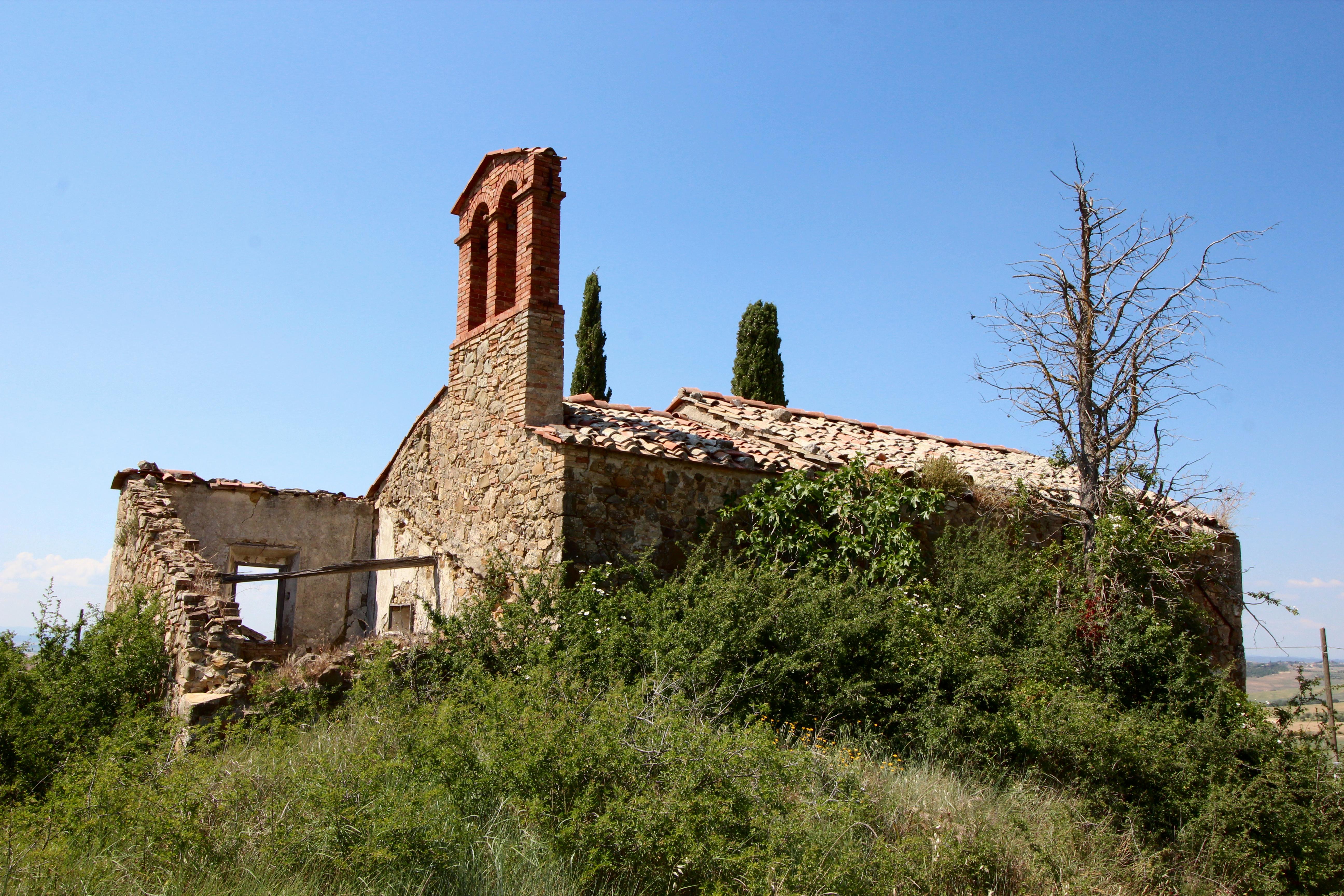 Church Ruin Madonna del Riguardo, just outside of San Quirico d'Orcia