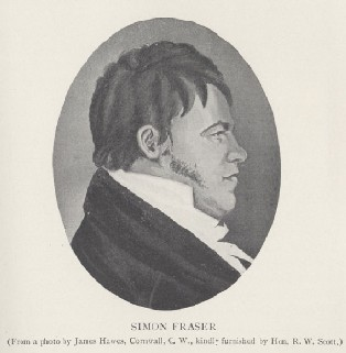 An undated drawing of Simon Fraser