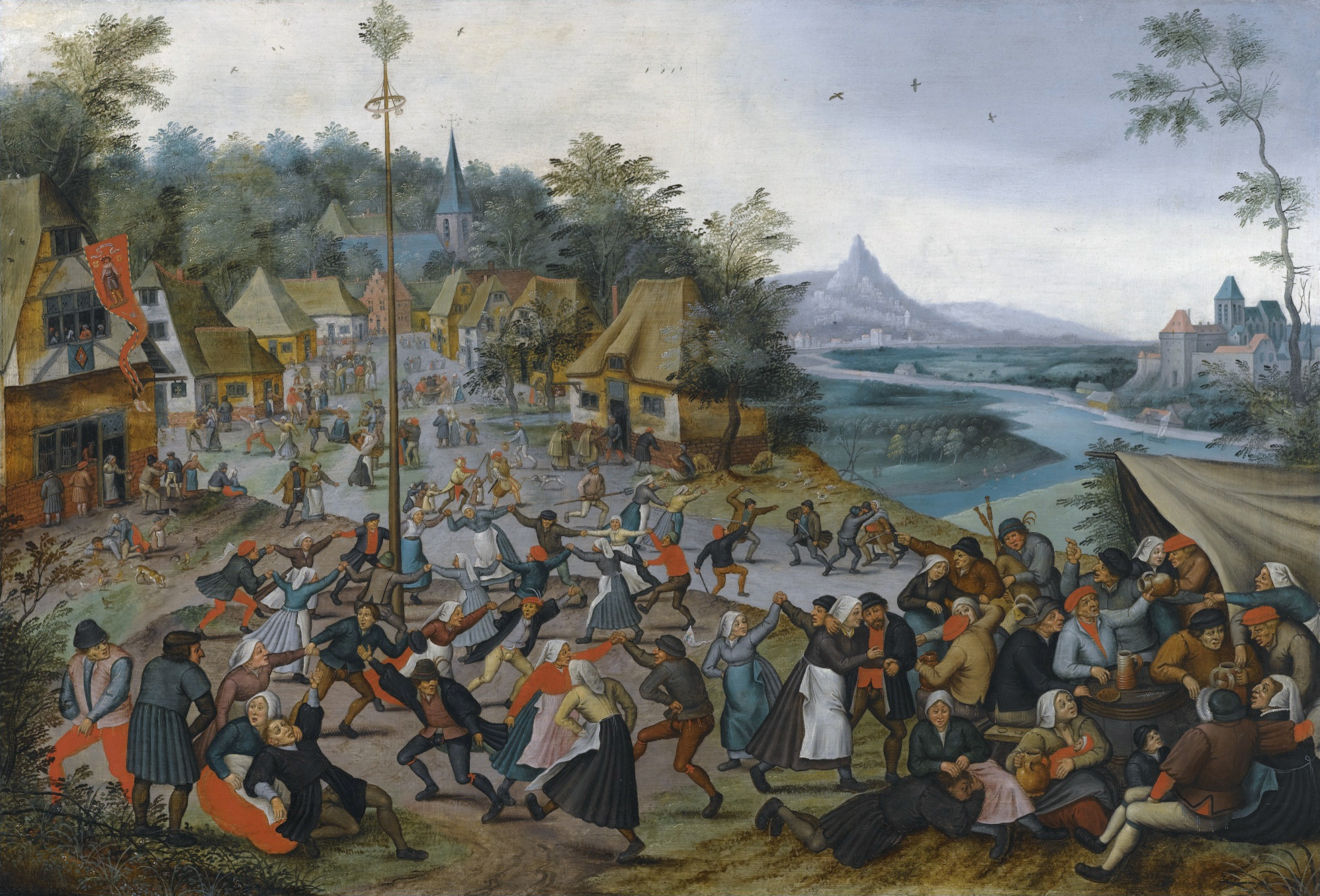 http://upload.wikimedia.org/wikipedia/commons/e/eb/St._George%27s_Kermis_with_the_Dance_around_the_Maypole_by_Pieter_Brueghel_the_Younger.jpg