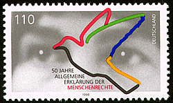 Stamp from Deutsche Post AG from 1998, 50th an...