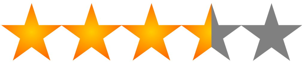 Image result for 3.5 star rating